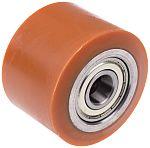 LAG 棕色/棕褐色 82mm直径 PUR,钢 脚轮 1552 CC, 20mm孔径, 600kg负载能力