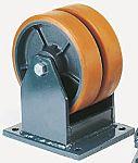 LAG 脚轮, 车轮直径 150mm, 1400kg负载固定210mm否50mm, PUR轮胎重型200 x 160mm14mm4, 铸铁轮毂160 x 120mm球轴承