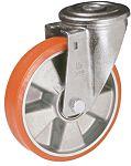 LAG 丝杆型万向轮 100mm直径, PUR轮胎, 应用于工业, 耐磨,操作宁静, 120kg负载, 128mm总高