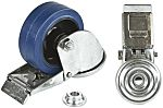 LAG 丝杆型万向轮 125mm直径, 橡胶轮胎, 应用于工业, 耐磨,操作宁静,减震, 180kg负载, 160mm总高