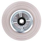 LAG 黑色,白色 125mm直径 橡胶轮胎 脚轮, 120kg负载, 12mm孔径