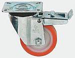 LAG 旋转脚轮, 车轮直径 125mm, 250kg负载制动,旋转164mm是30mm, PUR轮胎重型135 x 110mm10.5mm4, 尼龙轮毂105 x 80mm滚动轴承