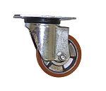 LAG 脚轮, 车轮直径 80mm, 120kg负载旋转106mm20mm, 聚氨酯轮胎102 x 83mmM84, 铝轮毂80 x 60mm滚珠轴承,滚柱轴承