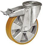 LAG 丝杆型万向轮 160mm直径, PUR轮胎, 应用于工业, 耐磨,操作宁静, 300kg负载, 196mm总高
