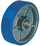 LAG 蓝色 200mm直径 铸铁,聚氨脂 脚轮 37030CC, 20mm孔径, 1000kg负载能力