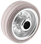 LAG 黑色,白色 80mm直径 橡胶轮胎 脚轮, 60kg负载, 12mm孔径