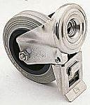 LAG 丝杆型万向轮 80mm直径, 橡胶轮胎, 应用于工业, 耐磨损, 55kg负载, 106mm总高