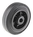 LAG 黑色 100mm直径 橡胶轮胎 脚轮, 75kg负载, 12mm孔径