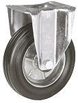 LAG 脚轮, 车轮直径 80mm, 60kg负载固定106mm是25mm, 橡胶轮胎轻型102 x 83mm8mm4, 钢轮毂80 x 60mm滚动轴承