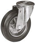 LAG 丝杆型万向轮 80mm直径, 橡胶轮胎, 应用于工业, 60kg负载, 106mm总高