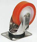 LAG 旋转脚轮, 车轮直径 150mm, 250kg负载旋转181mm是40mm, PUR轮胎重型135 x 110mm10mm4, 聚酰胺轮毂105 x 80mm滚动轴承