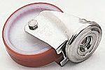 LAG 丝杆型万向轮 80mm直径, PUR轮胎, 应用于工业, 耐磨,耐腐蚀,,操作宁静,耐冲击,可清洗, 100kg负载, 106mm总高