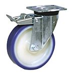 LAG 旋转脚轮, 车轮直径 150mm, 300kg负载制动,旋转194mm是15mm, PUR轮胎重型135 x 110mm4, 聚酰胺 6轮毂105 x 80mm球轴承