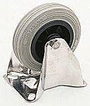 LAG 脚轮, 车轮直径 100mm, 85kg负载固定128mm是30mm, 橡胶轮胎重型102 x 83mm8mm4, 热塑性塑料轮毂80 x 60mm平孔