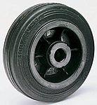 LAG 黑色 125mm直径 橡胶轮胎 脚轮, 90kg负载, 12mm孔径