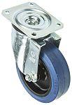 LAG 旋转脚轮, 车轮直径 125mm, 180kg负载旋转160mm是40mm, 橡胶轮胎重型102 x 83mm8mm4, 聚酰胺轮毂80 x 60mm平孔