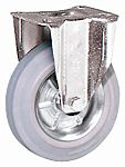 LAG 脚轮, 车轮直径 100mm, 80kg负载固定128mm否30mm, 橡胶轮胎重型102 x 83mm8mm4, 钢轮毂80 x 60mm滚动轴承