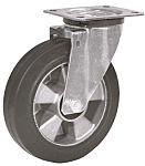 LAG 旋转脚轮, 车轮直径 125mm, 200kg负载旋转160mm是50mm, 橡胶轮胎重型135 x 110mm10mm4, 钢轮毂105 x 80mm滚动轴承