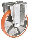 LAG 脚轮, 车轮直径 125mm, 200kg负载固定160mm是30mm, PUR轮胎重型102 x 83mm8mm4, 压铸铝轮毂80 x 60mm滚动轴承