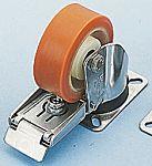 LAG 旋转脚轮, 车轮直径 150mm, 370kg负载制动,旋转192mm是40mm, PUR轮胎重型135 x 110mm10mm4, 聚酰胺轮毂105 x 80mm滚动轴承